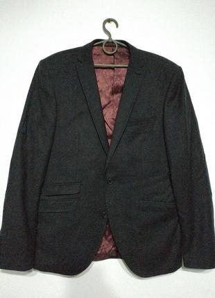 L xl 50 52 100% шерсть next slim fit сост нов пиджак блейзер жакет мужской приталенный