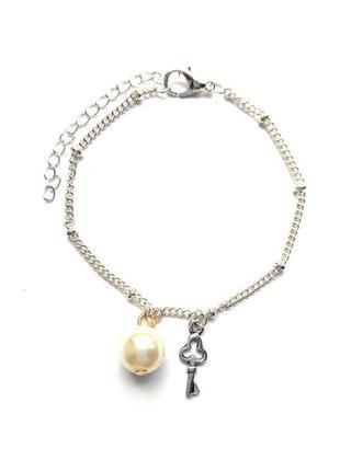 Жіночий браслет підвіска перлина кулон день святого валентина всіх закоханих 8 березня