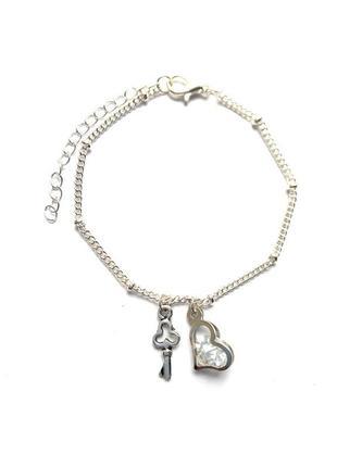 Жіночий браслет підвіска кулон день святого валентина всіх закоханих 8 березня