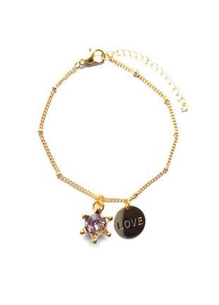 Жіночий браслет підвіска кристал кулон день святого валентина всіх закоханих 8 березня