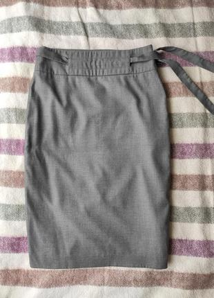 Шерстяная юбка wesc длины миди, офисная юбка, юбка-карандаш