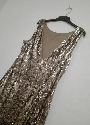 Золотое платье в паетках батал