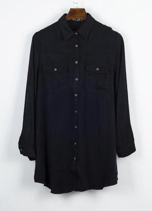 Черное платье-рубашка