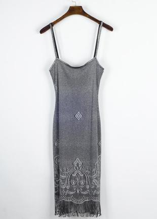 Платье-комбинация миди