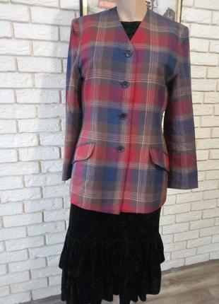 Стильный, актуальный пиджак, жакет в клетку оверсайз  скидка!