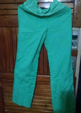 Легкие летние салатовые штаны для беременных. размер  м