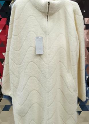 Шикарное пальто с альпаки, размер универсальный 52-60, последняя...