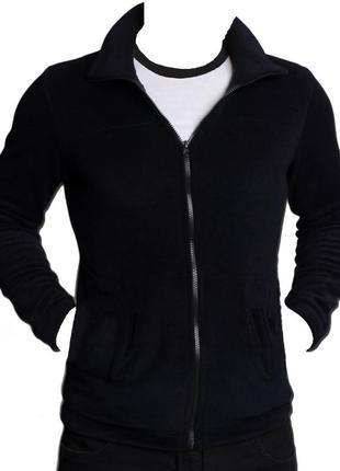 Флисовая кофта флиска чёрного цвета новая m