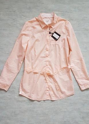 Хлопковая рубашка massimo dutti с пояском