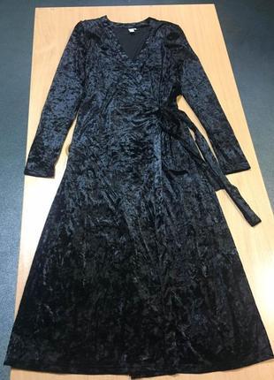 Шикарное платье велюр от бренда & other stories
