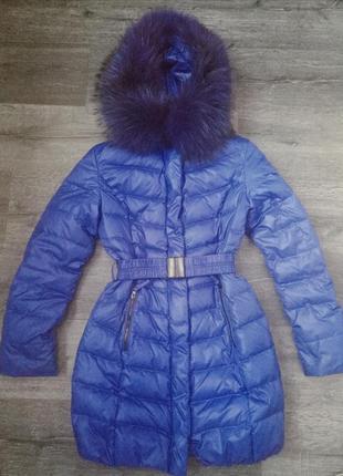 Зимова куртка курточка пуховик clasna натуральну хутро