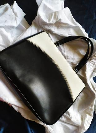 Винтажная кожаная сумка натуральная кожа винтаж ретро