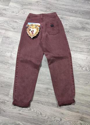 Винтажные джинсы boyfriend momjeans moschino мом бойфренд