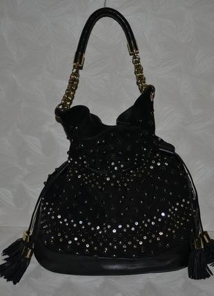 Красивая замшевая кожаная сумка reiss