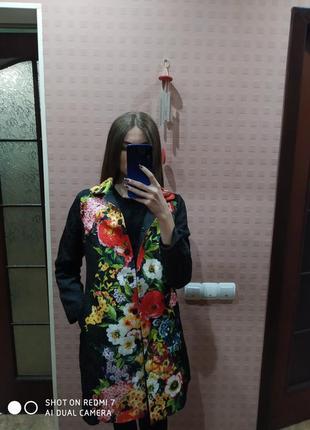 Цветочное пальто
