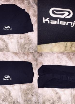 Повязка на голову kalenji чёрная спорт