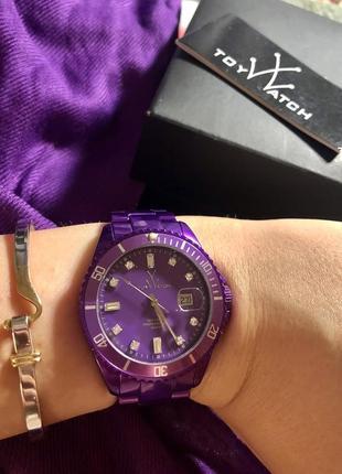 Шикарные часики toy watch ,  трендовый цвет 💜
