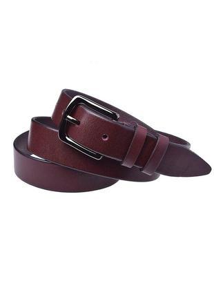 Женский кожаный ремень jk-3040 bordo (3 см)