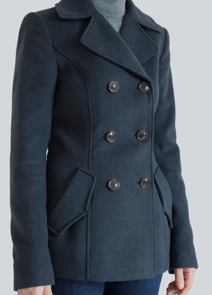 Короткое демисезонное пальто esprit темно-синего цвета