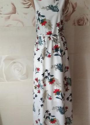 Нежное платье макси  tu цветочный принт длина-139