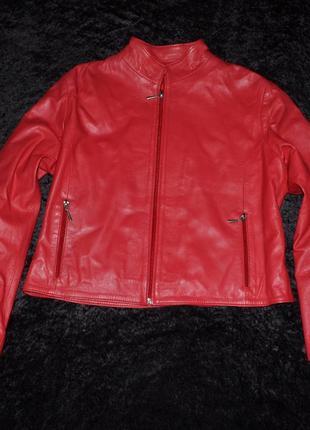 Кожаная куртка vera pelle, р. l