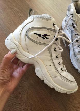 Кожаные сапоги ботинки reebok