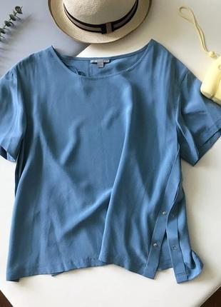 100% шёлк. шелковый топ/блуза от cos