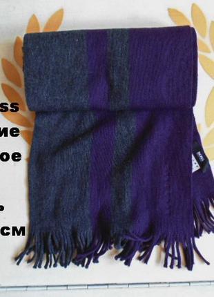 Hugo boss шарф 100% шерсть