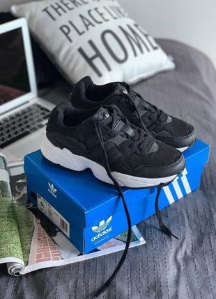 Кроссовки женские, мужские adidas yung 96, черные (адидас янг, адидасы, кросівки)
