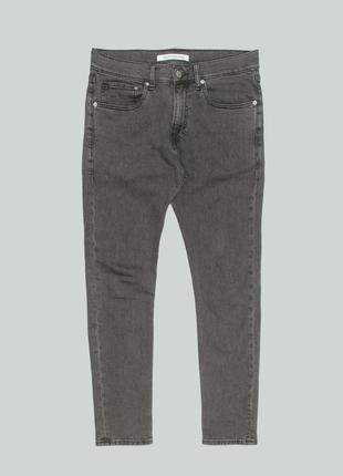 Крутые зауженные джинсы calvin klaine jeans skinny west copenhagen gray