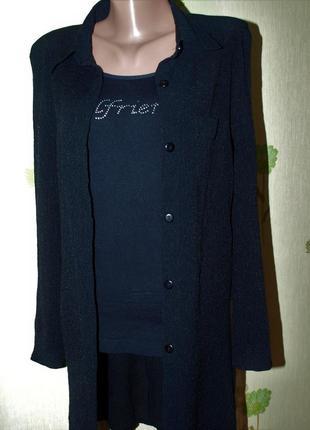 Блуза ,рубашка длинная- накидка, -лёгкий кардиган, -s-m-l- франция