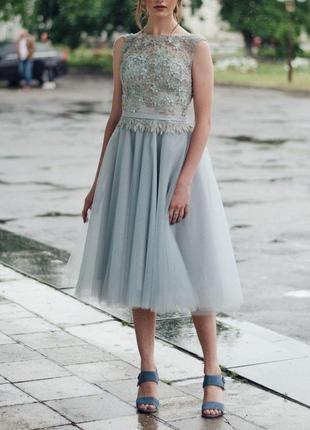 Выпускное/вечернее платье идеальное состояние, новое, миди