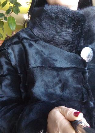 Норковая шуба стриженная saga mink