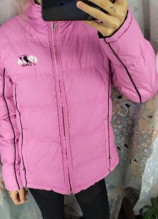 Скидки! нежно розовая двусторонняя короткая стильная женская курточка карго