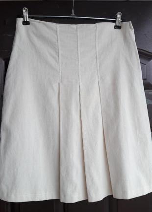 Вельветовая юбочка кремового цвета