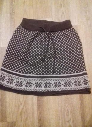 Вязаная юбка на девочку 8-12 лет