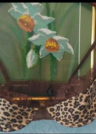 Бюстгальтер с леопардовым принтом