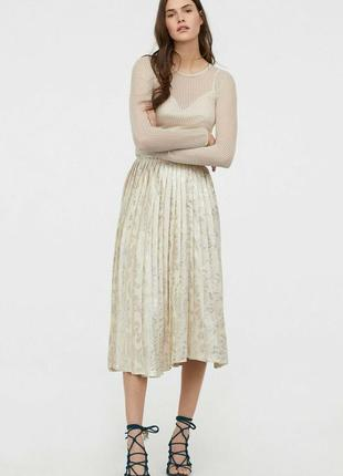H & m conscious exclusive 2019 плиссированная юбка7 фото