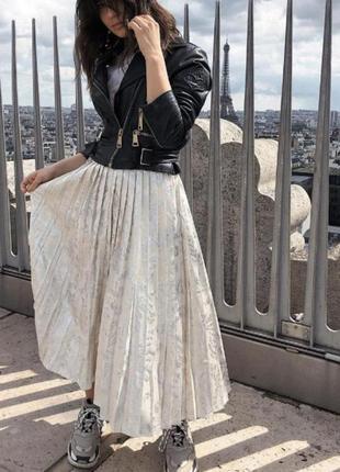 H & m conscious exclusive 2019 плиссированная юбка1 фото