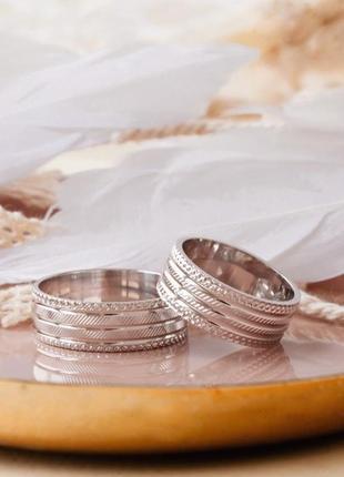 Кольцо обручальное серебро 925 ос7022