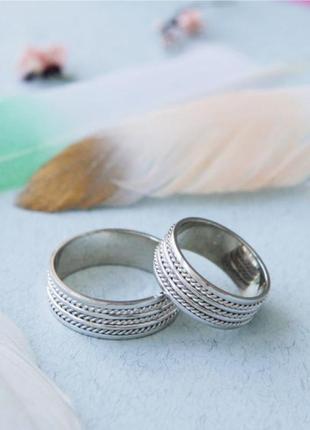 Кольцо обручальное серебро 925 ос7024