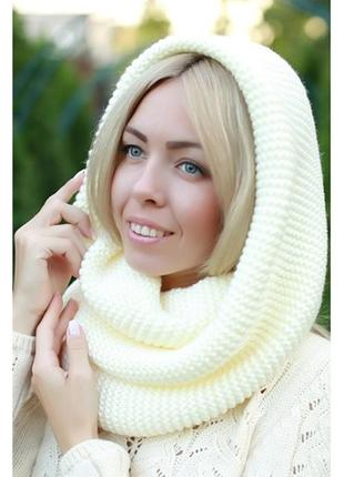 Кашимировый шарф хомут на голову