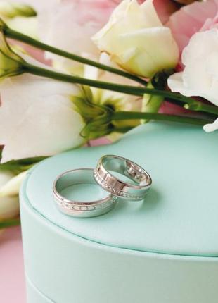 Кольцо обручальное серебро 925 ос5601