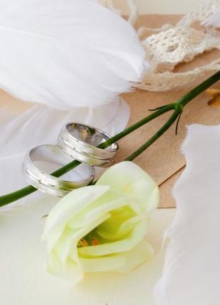 Кольцо обручальное серебро 925 ос6020