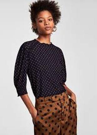 Стильная блуза в горошек zara