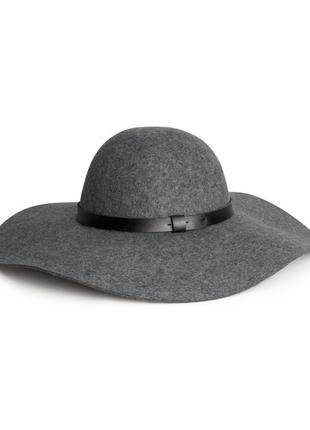 Шерстяная шляпа h&m