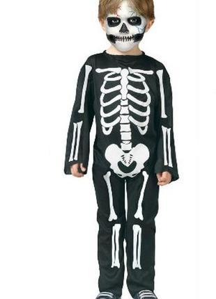 Маскарадный костюм скелет хэллоуин на 6-8 лет цена снижена