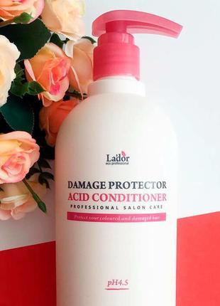 Кондиционер с протеинами шелка для сухих волос lador damage  900 мл