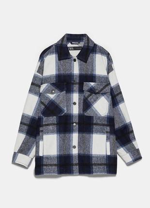 Куртка рубашечного кроя в клетку zara