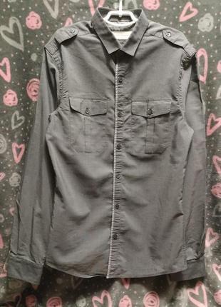 """Рубашка на подростка от """"river island"""" uk s, eur 2"""